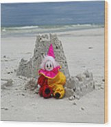 Sand Castle Jester Wood Print by William Patrick