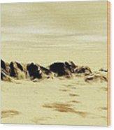 Sand Desert Wood Print