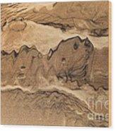 Sand Dog Wood Print