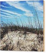 Sand Dune At Alantic Beach Wood Print