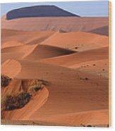 Sand Dune Sculpture  Wood Print