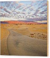 Sand Dune Sunrise Wood Print
