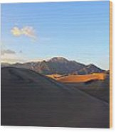 Sand Dune Sunset 2 Wood Print