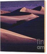 Sand Dunes At Sunrise Wood Print