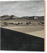 Sand Dunes In A Desert, Namib Desert Wood Print