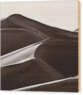 Sand Forms Great Sand Dunes Colorado Wood Print
