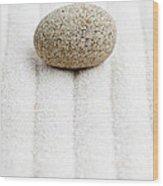 Sand Garden Wood Print