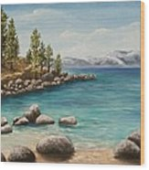 Sand Harbor Lake Tahoe Wood Print