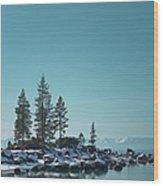 Sand Harbor-lake Tahoe Wood Print