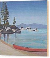 Sand Harbor - Lake Tahoe Wood Print