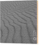 Sand In Black And White Wood Print