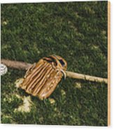 Sand Lot Baseball Wood Print