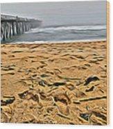 Sand On The Beach Wood Print