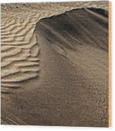 Sand Pattern Abstract - 2 Wood Print