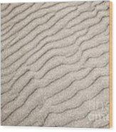 Sand Ripples Natural Abstract Wood Print