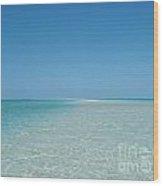 Sand Sea And Sky Wood Print