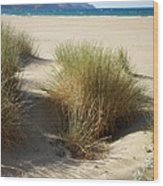 Sand Sea Mountains - Crete Wood Print