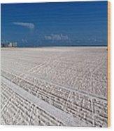 Sand Trails Wood Print