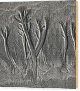Sand Trees Wood Print