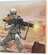 Sand Trooper - Star Wars The Card Game Wood Print by Ryan Barger