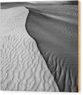 Sand Waves Wood Print