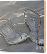 Sandals 4 Wood Print