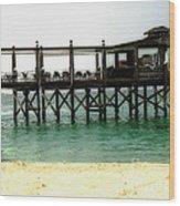 Sandals Resort Nassau Pier Wood Print
