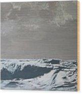 Sandbank Vi Braun Wood Print