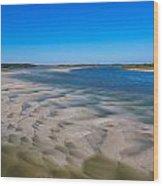 Sandbars On The Fort George River Wood Print