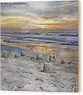 Sandcastle Sunrise Wood Print