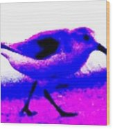 Sandpiper Abstract Wood Print