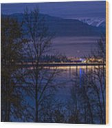 131112a-110 Sandpoint After Dusk Wood Print