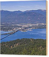 Sandpoint From Trail 3  -  110923-021 Wood Print
