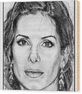 Sandra Bullock In 2005 Wood Print