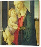 Sandro Botticelli, Madonna And Child, Italian Wood Print
