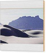 White Sands Natural Anatomy  Wood Print