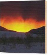 Sands Sunset  Wood Print