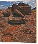 Sandstone And Sky Wood Print