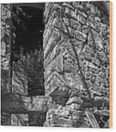 Sandstone Arch Jerome Black And White Wood Print
