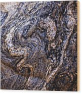 Sandstone Boulder Detail Wood Print