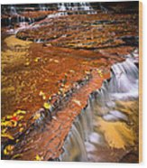 Sandstone Cascade Wood Print