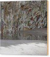 Sandstone Cave V2 Wood Print