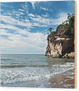 Sandstone Cliffs By Ocean At Telok Wood Print