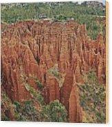 Sandstone Cliffs Wood Print by Liudmila Di