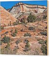 Sandstone Hills Wood Print