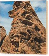 Sandstone Husky Wood Print