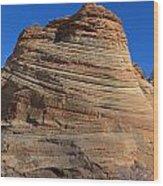 Sandstone Rock Formation Zion National Park Utah Wood Print