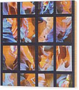 Sandstone Sunsongs Blues Photo Assemblage Wood Print