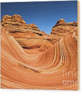 Sandstone Surf Wood Print by Adam Jewell