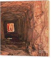 Sandstone Tunnel Wood Print
